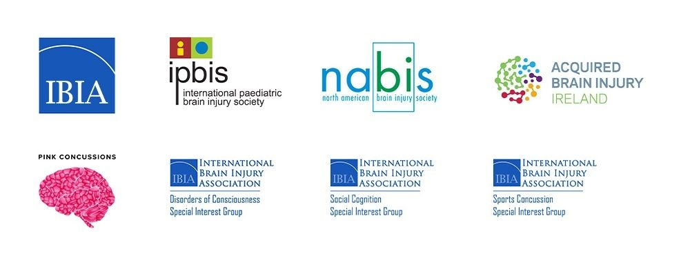 Logos of organizations participating in the 2021 World Congress on Brain Injury